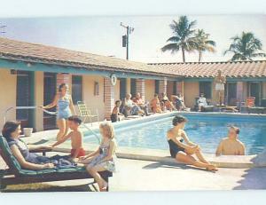 Unused Pre-1980 MOTEL SCENE Miami Florida FL G7003