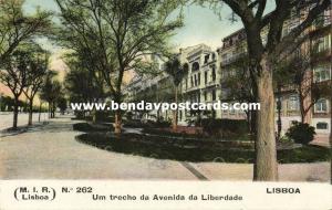 portugal, LISBON LISBOA, Um Trecho da Avenida da Liberdade (1910s)