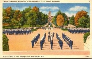 Maryland Annapolis Noon Formation Regiment Of Midshipmen U S Naval Academy