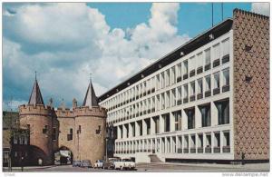 Arnhem Sabelspoort en Province - Huis, old cars, Gelderland, Netherlands, 40-60s