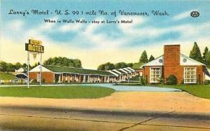 WA, Vancouver, Washington, Lanny's Motel, U.S. 99, Colorpicture No. K 1151
