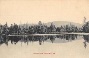 Kingfield Maine Pinnacle Pond Waterfront Antique Postcard K81239