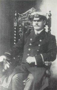 Postcard, RMS Titanic Junior Electrical Officer Alfred Samuel Allsop CA4