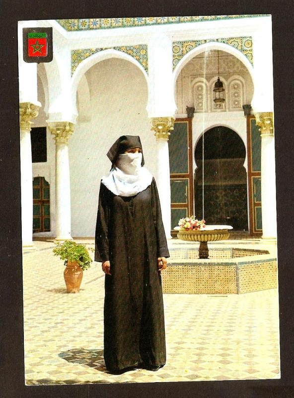 MOROCCO VINTAGE POSTCARD-STAMPS-TANGER-TYPICAL COSTUME
