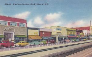 North Carolina Rocky Mount Business Section Street Scene