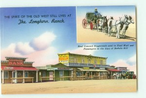 Route 66 Longhorn Ranch, Museum, Concord Stagecoach New Mexico Vintage  Postcard