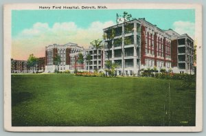Detroit Michigan~Henry Ford Hospital Building~Vintage Postcard