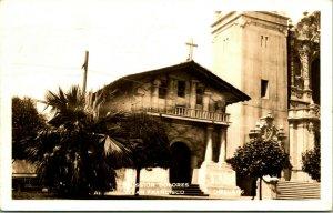 Vtg Cartolina RPPC 1941 Missione Dolores - San Francisco Ca