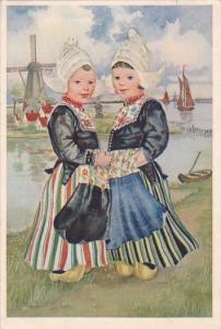 Netherlands Dutch Children In Traditional Costume