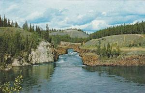 World-famous Miles Canyon, Whitehorse, Yukon Territory,  Canada,  40-60s