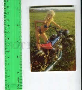 263806 USSR ESTONIA girl Earring hammer sickle motorcycle Pocket CALENDAR 1989