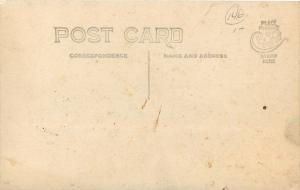 Vintage Real Photo Postcard~Victorian Lady On Porch~Snow~1912 RPPC