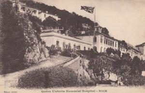 Queen Victoria Military Memorial Hospital in Nice France French Antique Postcard