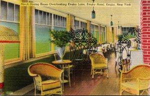 New York Keuka Porch Dining Room Overlooking Keuka Lake Keuka Hotel