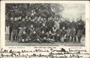 Annappolis MD Navy College Football Team 1905 Used Postcard