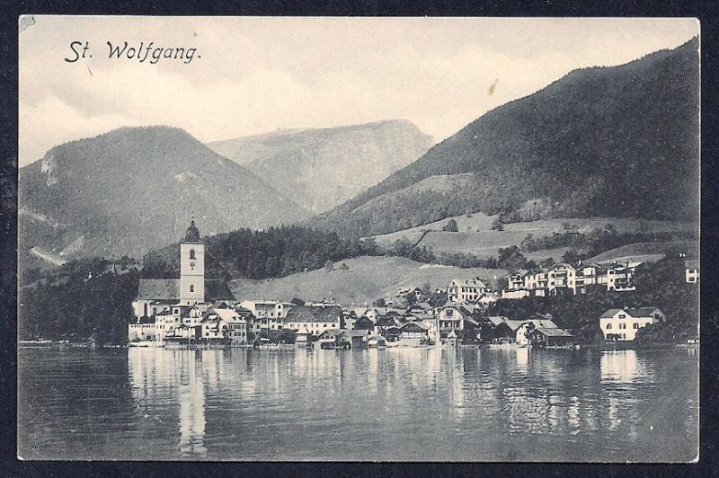 St. Wolfgang Salzkemmergut Austria unused c1910's