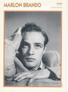 Marlon Brando Astrology USA Actor Rare Italian 8 x 5 Film Photo Card