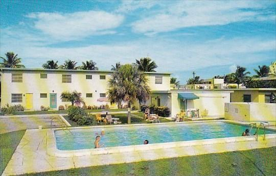 Florida Fort Lauderdale Jolly Shores Apartment Motel With Pool