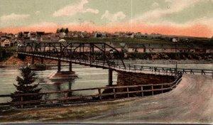 Maine Bridge On Androscoggin River 1906