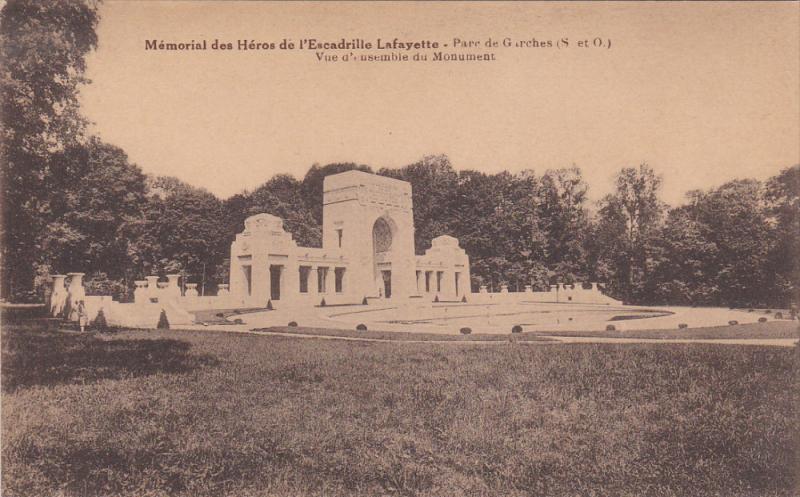 Memorial des Heros de l'Escadrille Lafayette, Parc de Garches, Hauts de Seine...
