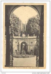 Italy  , Frascati  , Fontana di Atlante - Villa Aldobrandini, 20-30s