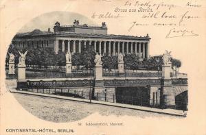 Germany Greetings from Berlin Castle Bridge Museum Postcard