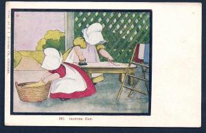Sunbonnet Girl 'Laundry Day' unused c1905