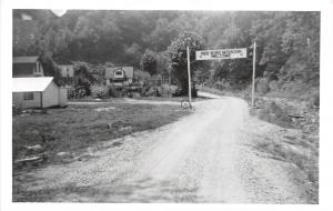 Kentucky Ky Real Photo RPPC Postcard c50s BEVERLY Red Bird Mission Entrance Camp