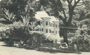 Zimbabwe SOUTHERN RHODESIA Leopard Rock Hotel 1953 real photo postcard (crease)