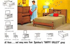 Furniture Advertising Old Vintage Antique Post Card Spainhour's Happy Va...