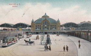 HALLE A. SAALE (Saxony-Anhalt), Germany, 1910 ; Bahnhof