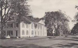 Connecticut Salisbury Town Hall And Main Street Albertype