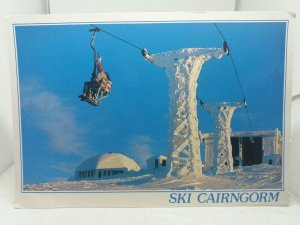 Large Vintage Postcard Ski Cairngorm The White Lady Scotland