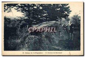 Old Postcard Dolmen Standing Stone Camp Coetquidan dolmen Roermand