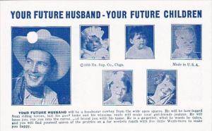 Humour Vintage Arcade Card Your Future Husband Will Be A Handsome Cowboy