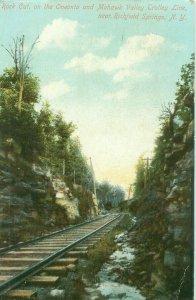 Rock Cut on Oneonta & Mohawk ValleyTrolley Line Near Richfield Springs NY 1909