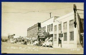 Medford Oregon or E Main street corner N Central Avenue real photo postcard RPPC