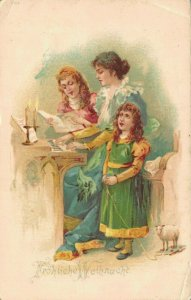 Merry Christmas Singing Christmas Songs Litho 04.35