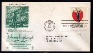 1966 US Sc #1317 FDC Johnny AppleseedGreat Condition.