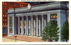 North Carolina Wilson The Wilson County Court House At Night