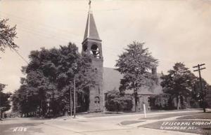 Illinois Waukegan Episcopal Church Real Photo RPPC