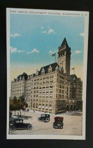 Mint Vintage Washington DC Post Office Department Building 1920s Postcard