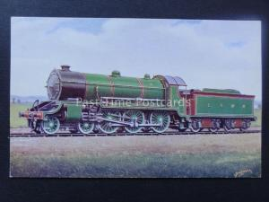 Steam Locomotive No.486 4-6-0 London & South Western Railway - Old Postcard