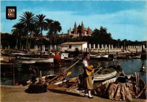 CPA Espagne-Mallorca-Palma de Mallorca-Quai de pécheurs et Cathédrale (323354)