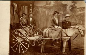 Des Moines IA Empress Pharmacy~Couples in Buggy~State Fair Studio Prop~RPPC 1912