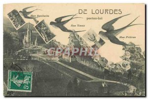 Old Postcard Lourdes