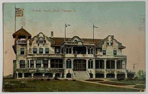 Old Divided Back Era Postcard Toledo Yacht Club, Toledo, Ohio Used 1910 Accept.