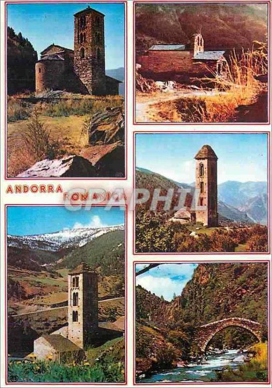 Modern Postcard Valleys of Andorra Canillo Encamp Engolasters Stake Massana