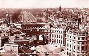 Admirality Arch London Palace View Real Photo Postcard