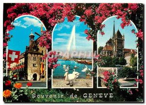 Postcard Modern Place Molard of the fountain (130 m) and swans Cathedrale St ...